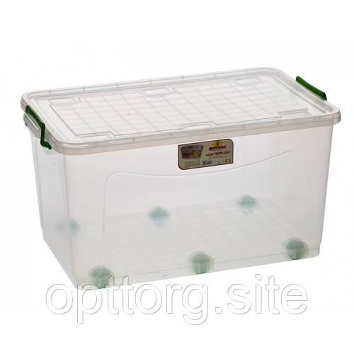 Контейнер пищевой пластиковый с крышкой BigBox №2 -50 л