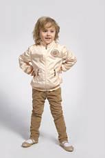 Куртка и жилетка для девочки, демисезонный комплект (Персик), фото 2