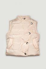 Куртка и жилетка для девочки, демисезонный комплект (Персик), фото 3