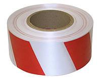 Лента оградительная сигнальная красно белая 200м