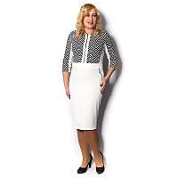 Стильное платье большого размера для деловой женщины