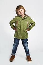 Ветровка(парка) для мальчика зеленая, фото 2
