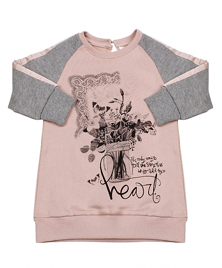 Итальянская детская одежда Gaialuna, красивая туника для девочки р-ры 74