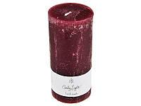 Свеча декоративная цилиндрическая Темно-Красная 7Х15 см Candy Light 029-084