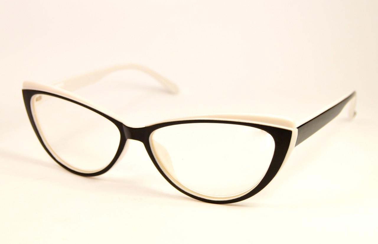 Компьютерные очки женские стекло (203 ч-б)