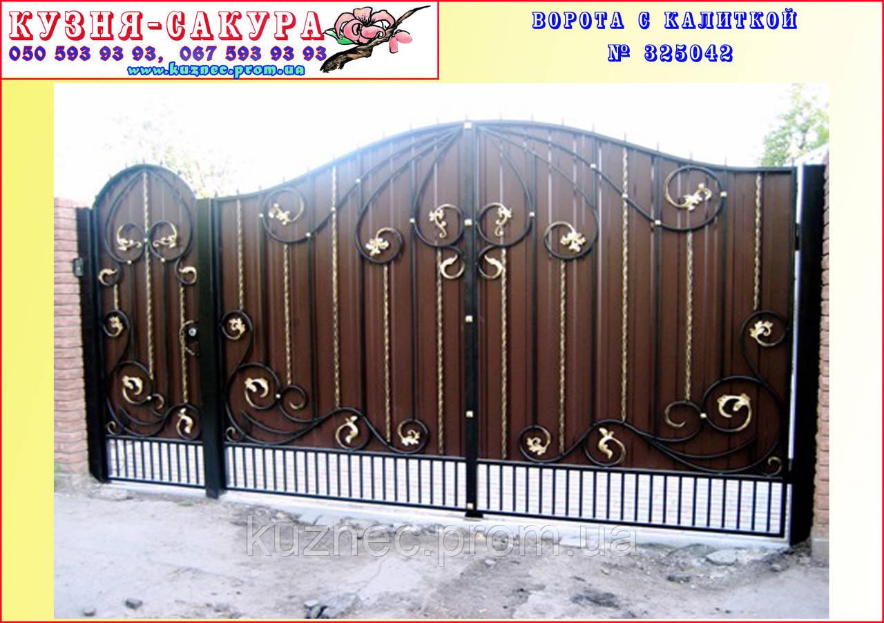 дворовые ворота с калиткой фото