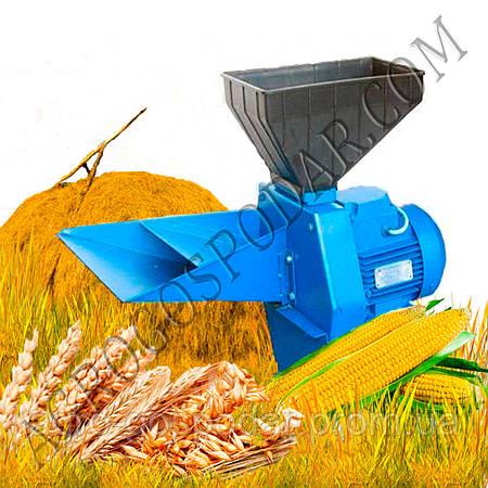 Кормоизмельчитель Зернодробилка Эликор -1 исп 5 зерно + початки кукурузы + сено и солома
