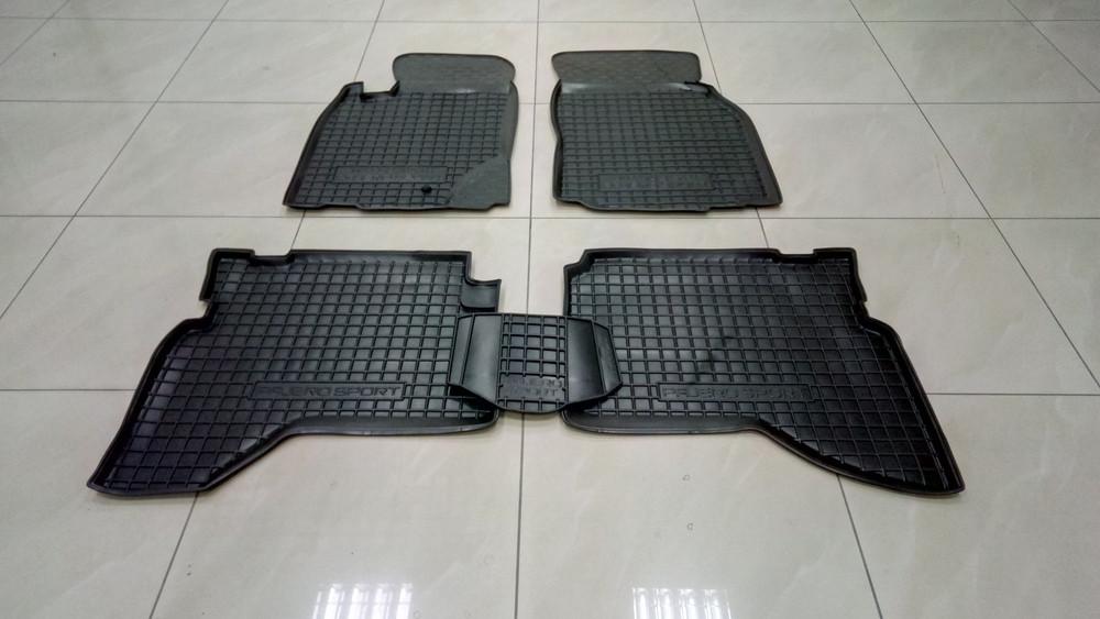 Коврики в салон для Mitsubishi Pajero Sport 1998-2008 черный, кт - 4шт 11238 Avto-Gumm