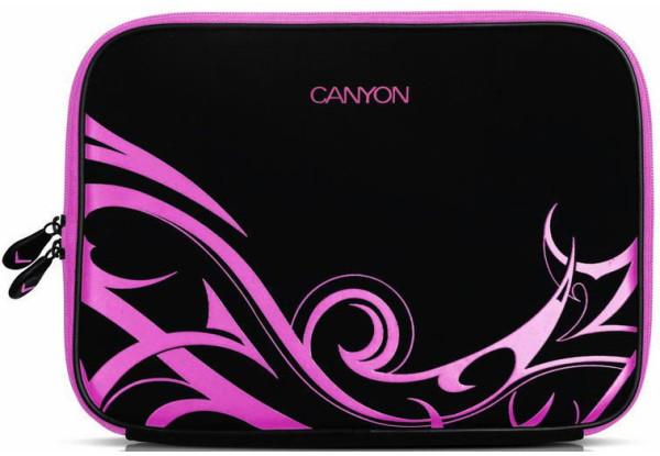 """Чохол для ноутбука Canyon 10""""  Black/Pink"""