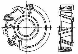 Фреза дисковая со вставными ножами 110х18 Р6М5, СССР