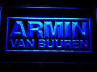 Armin van Buuren неоновый логотип
