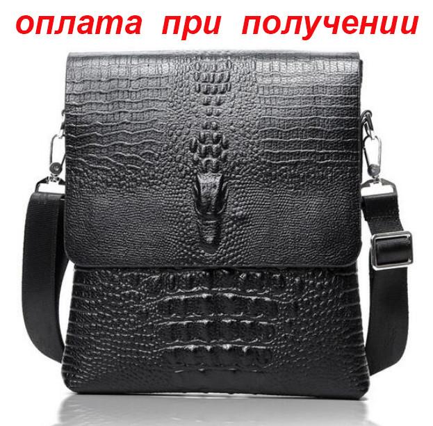 2870245c47f9 Мужская кожаная брендовая и стильная сумка Крокодил Alligator Lacoste