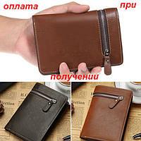 Мужской кожаный кошелек портмоне клатч Baellerry, фото 1