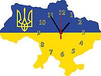 """настенные часы МДФ """"Карта України"""" фигурные"""