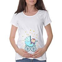 """Женская футболка """"Малыш в коляске"""""""