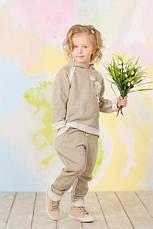 Костюм трикотажный с люрексом для девочки (золото), фото 2