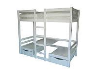Двухъярусная кровать со столиком для небольшой комнаты, модель Л-304. Скиф