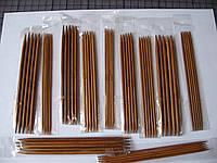 Набор  бамбуковых чулочных спиц, 11 размеров, 55 штук
