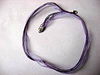Шнур с ленточкой, фиолетовый, 48 см