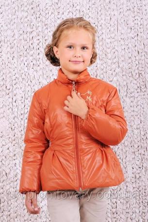 Куртка демисезонная для девочки (Терракот), фото 2