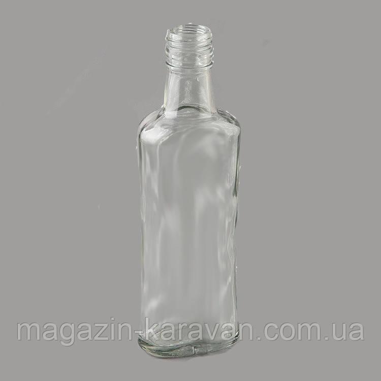Стеклянная бутылка подводку штоф 0,2 л