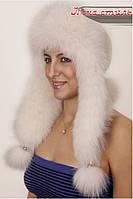 Женская шапка ушанка из песца Dlinnoe ukho в расцветках, фото 1