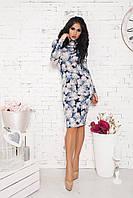 Силуэтное платье -гольф 976 НС