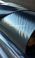 Пленка тепличная на метраж , черная , строительная 120 мкм . Ширина 3.