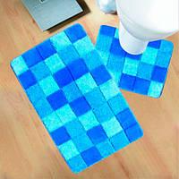 Коврики для ванной Ultra Fuga 6001 голубые
