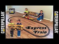 Большая железная дорога Строительный экспресс CAT Toy State CAT Construction Express Train 55651 , фото 1