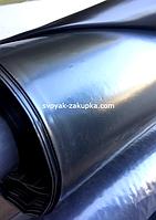 Пленка тепличная на метраж , черная , строительная 120 мкм . Ширина 6.