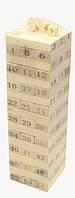 Дженга деревянная с цифрами 54 бруска