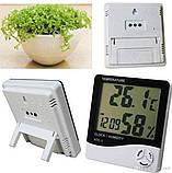 Цифровий термо-гігрометр AIRO HTC-1 (термометр: -10 °C~+50 °C; гігрометр: 10%-99%), годинник, будильник, фото 4