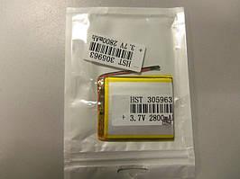 Внутрішній Акумулятор 3*59*63 (2800 mAh 3,7 V) 305963 AAA клас в Запоріжжі