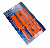 Скребки пластиковые для удаления краски набор из 4 шт Bass Polska 3690