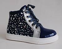 Jong Golf арт. B2563-1 синий-серебро     Демисезонные ботинки для девочек.