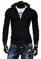 Осенняя мужская черная куртка без капюшона