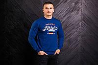 Мужской весенний свитшот ярко синего цвета Athletic