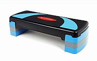 Степплатформа для фитнеса 3-х ступенчатая SG-055 (степплатформа для аэробики), фото 1