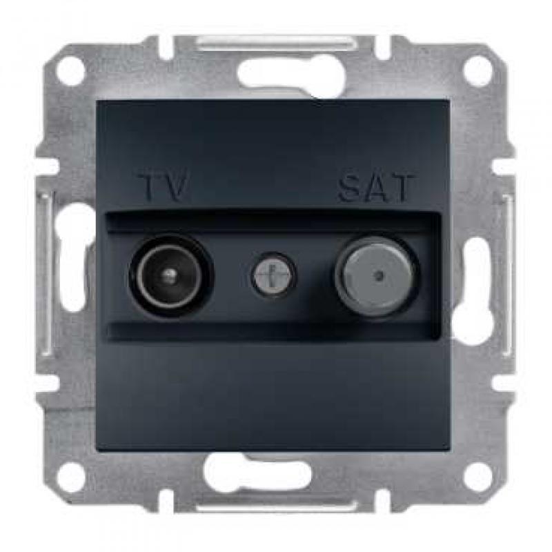 SHNEIDER ELECTRIC ASFORA TV-SAT Розетка проходная 4 dВ Антрацит