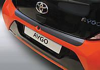 Защитная пластиковая накладка заднего бампера для Toyota Aygo II 3/5 Doors 7.2014>, заказ. № RBP781 ALU