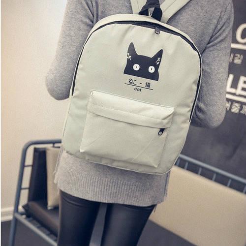 Молодежный рюкзак с модным котиком