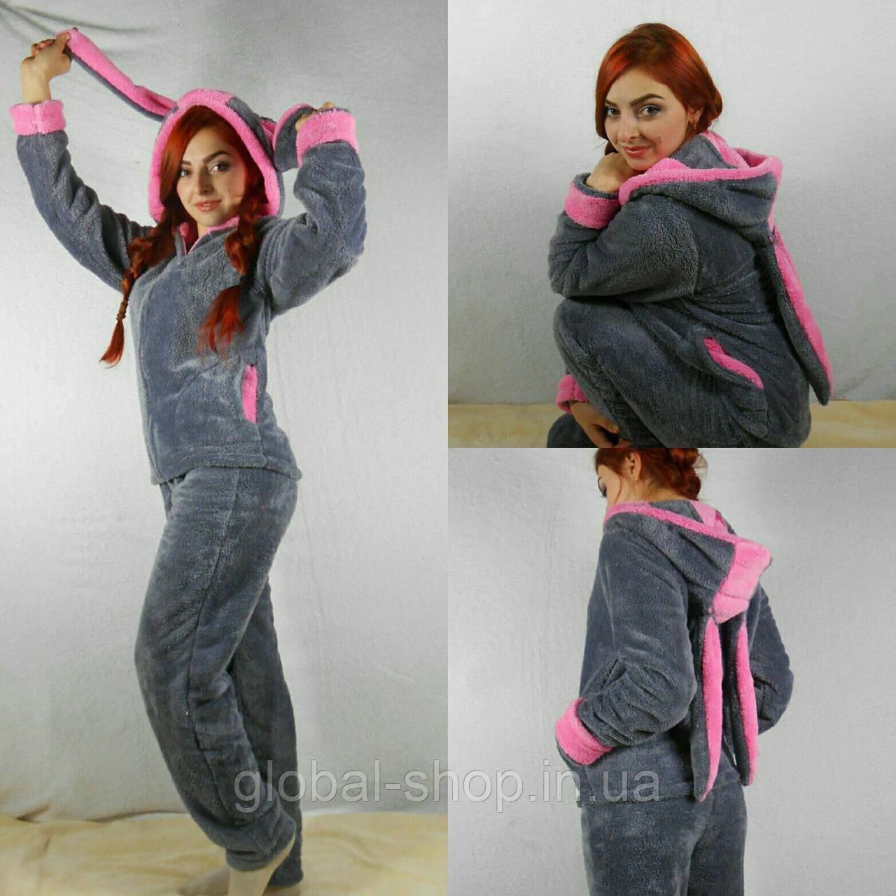 Домашний женский костюм-пижама с ушками 4 цвета - Интернет магазин Global  Shop в Киеве edb8871ac2b6c