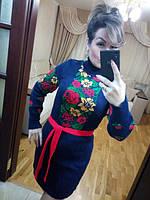 Платье женское короткое под шею «Рябина» P5363