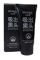 Черная крем-маска в тюбике - пленка от черных точек и сужающая поры.