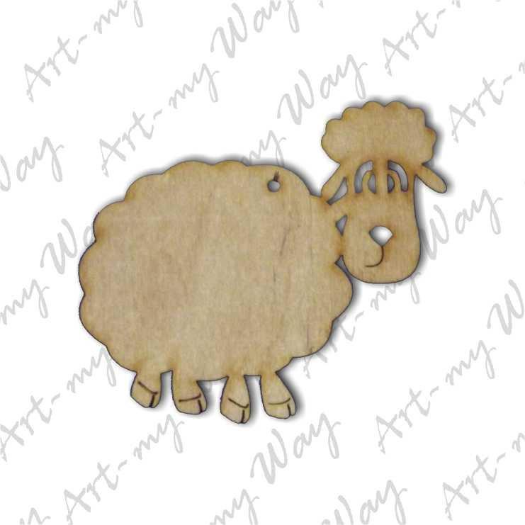 Подвеска - овечка 1 10см