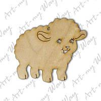 Подвеска - овечка 2 15см
