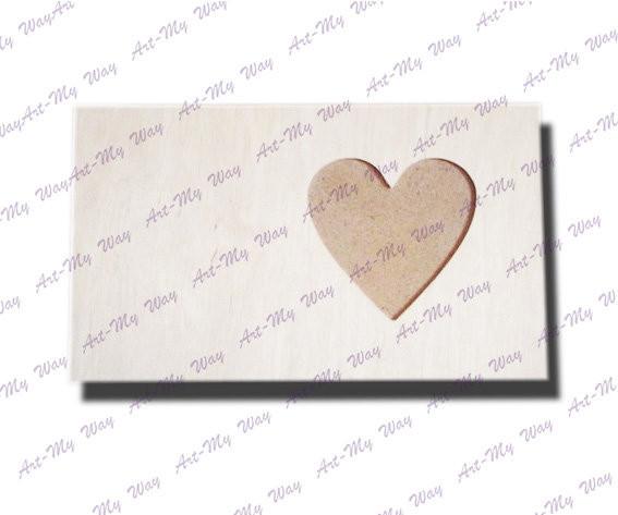 Прямоугольная рамочка-сердце 10x10
