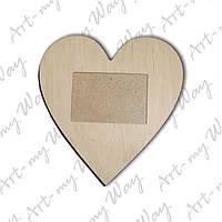 Рамочка для фото-сердце