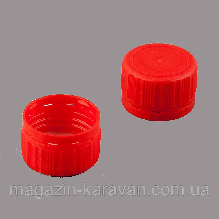 Пластиковая крышка 28 мм красная